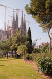 Templo/igreja do Sagrada Familia, Barcelona Fotografia de Stock