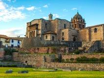 Templo Incan Qoricancha en Cusco Imagen de archivo libre de regalías