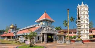 Templo indiano em Ponda, GOA, Índia imagem de stock