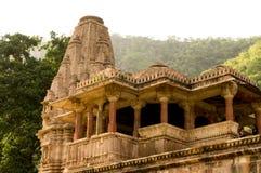 Templo indio adornado en Bhangarh Foto de archivo