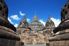 Templo Indonesia de Borobudur Fotos de archivo