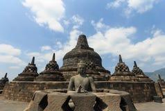 Templo Indonisia de Borobudur Imagem de Stock