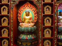 Templo interior da relíquia do dente da Buda, Singapura Foto de Stock Royalty Free