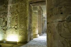 Templo interior de Abydos, Egipto fotografia de stock
