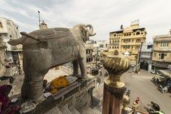 Templo Jagdish Temple Udaipur, la India enero de 2016 rajastan Imagen de archivo