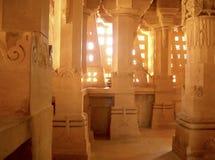 Templo Jain adentro fotografía de archivo