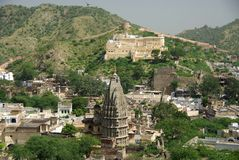 Templo Jain en el ámbar, Rajasthán Fotografía de archivo