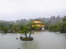 Templo Japão de Kinkakuji Fotografia de Stock