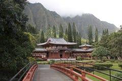 Templo japonés en Honolulu Hawaii fotos de archivo libres de regalías