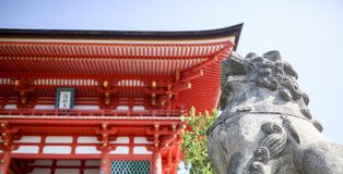 Templo japonês do kiyomizu Imagens de Stock