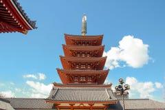 Templo japonês em tokyo Fotografia de Stock Royalty Free