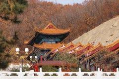Templo Jing en la ciudad china de Dunhua Fotografía de archivo
