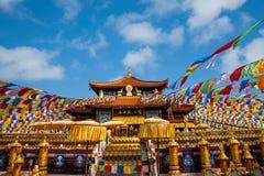 Templo Jinyu Guanyin de Sanya Nanshan Buddhist Fotos de archivo