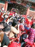 Templo justo, Celebratioin del Año Nuevo chino Imágenes de archivo libres de regalías