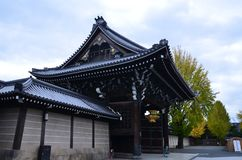Templo Kyoto Japón de Higashi Honganji Imagenes de archivo