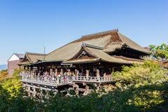 Templo Kyoto, Japón de Kiyomizu-dera Foto de archivo libre de regalías