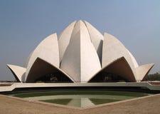 Templo la India de Bahai Fotografía de archivo libre de regalías