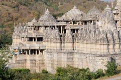 Templo la India de Ranakpur Fotos de archivo libres de regalías