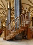 Templo, Londres, Inglaterra: escalera espiral, iglesia del templo, Londres imagenes de archivo