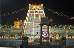 Templo a Lord Venkateswara em Tirupati, Andhra Pradesh, Índia Fotos de Stock Royalty Free