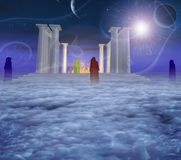 Templo místico ilustração do vetor