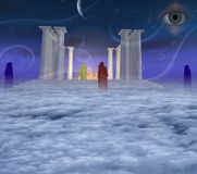 Templo místico ilustração royalty free