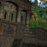 Templo místico ilustração stock