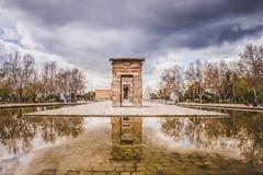 Templo Madrid de Debod Foto de archivo