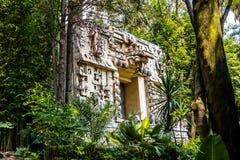 Templo maia no museu da antropologia - Cidade do México, México fotos de stock
