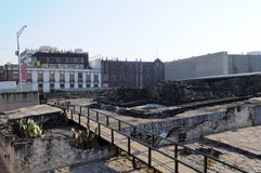 Templo Mayor, Mexico city Royalty Free Stock Photo