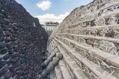 Templo Mayor Museum. Mexico City, FEB 19: The historical and beautiful Templo Mayor Museum on FEB 19, 2017 at Mexico City Stock Image