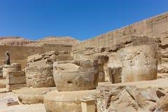 Templo Medinet Habu em Luxor fotos de stock royalty free