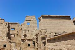 Templo Medinet Habu em Luxor imagem de stock