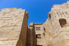 Templo Medinet Habu em Luxor imagens de stock royalty free