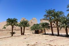 Templo Medinet Habu em Luxor fotografia de stock