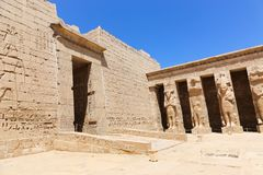 Templo Medinet Habu em Luxor fotos de stock