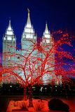 Templo moderno del santo del mormón LDS de Salt Lake City para la religión C Imagen de archivo libre de regalías