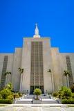 Templo mormón California de Los Ángeles LDS imágenes de archivo libres de regalías