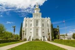 Templo mormón de LDS en St George Utah imagen de archivo
