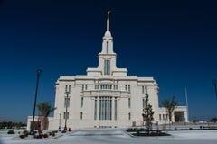 Templo mormón de Payson Utah fotografía de archivo libre de regalías