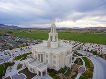Templo mormón de Payson Utah Imágenes de archivo libres de regalías