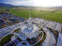 Templo mormón de Payson Utah Imagen de archivo