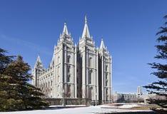 Templo mormón - el templo de Salt Lake, Utah imagen de archivo libre de regalías