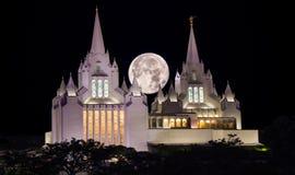 Templo mormón en San Diego California imagen de archivo