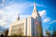 Templo mormón, Kansas City Fotos de archivo libres de regalías