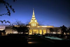 Templo mormón Phoenix, AZ de LDS Foto de archivo libre de regalías