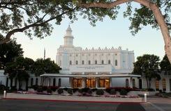 Templo mormón San Jorge, UT de LDS Fotografía de archivo