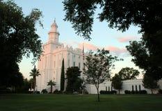 Templo mormón San Jorge, UT de LDS Imágenes de archivo libres de regalías