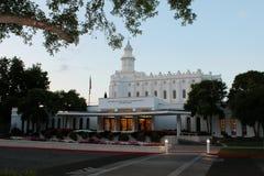 Templo mormón San Jorge, UT de LDS Fotos de archivo