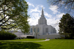 Templo mormónico Imagen de archivo libre de regalías